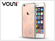 Apple iPhone 6 Plus/6S Plus hátlap kristály díszitéssel - Vouni Crystal Bloom - champagne gold