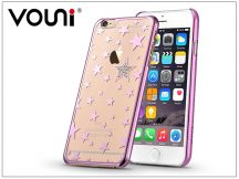 Apple iPhone 6 Plus/6S Plus hátlap kristály díszitéssel - Vouni Crystal Star - rose pink
