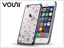 Apple iPhone 6 Plus/6S Plus hátlap kristály díszitéssel - Vouni Crystal Star - gun black