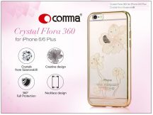 Apple iPhone 6/6S hátlap Swarovski kristály díszitéssel - Comma Crystal Flora 360 - champagne gold