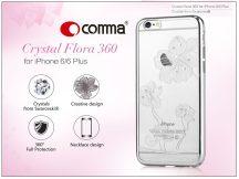 Apple iPhone 6/6S hátlap Swarovski kristály díszitéssel - Comma Crystal Flora 360 - silver