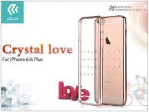 Apple iPhone 6/6S hátlap Swarovski kristály díszitéssel - Devia Crystal Love - champagne gold