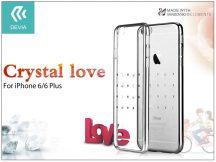 Apple iPhone 6/6S hátlap Swarovski kristály díszitéssel - Devia Crystal Love - silver