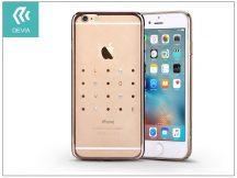 Apple iPhone 6 Plus/6S Plus hátlap kristály díszitéssel - Devia Crystal Love - champagne gold