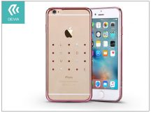 Apple iPhone 6 Plus/6S Plus hátlap kristály díszitéssel - Devia Crystal Love - rose pink