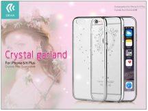 Apple iPhone 6/6S hátlap Swarovski kristály díszitéssel - Devia Crystal Garland - silver