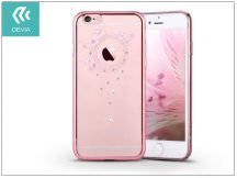 Apple iPhone 6 Plus/6S Plus hátlap Swarovski kristály díszitéssel - Devia Crystal Garland - rose pink