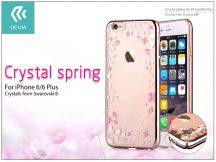 Apple iPhone 6/6S hátlap Swarovski kristály díszitéssel - Devia Crystal Spring - champagne gold