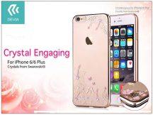 Apple iPhone 6/6S hátlap Swarovski kristály díszitéssel - Devia Crystal Engaging - champagne gold