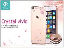 Apple iPhone 6/6S hátlap Swarovski kristály díszitéssel - Devia Crystal Vivid - champagne gold