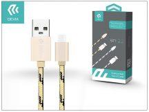 USB - USB Type-C adat- és töltőkábel 1 m-es vezetékkel - Devia Fashion USB Type-C Cable - gold
