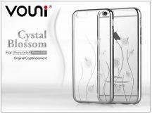 Apple iPhone 6 Plus/6S Plus hátlap kristály díszitéssel - Vouni Crystal Blossom - silver