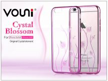 Apple iPhone 6 Plus/6S Plus hátlap kristály díszitéssel - Vouni Crystal Blossom - rose pink