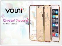 Apple iPhone 6 Plus/6S Plus hátlap kristály díszitéssel - Vouni Crystal Reverie - champagne gold