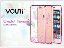 Apple iPhone 6 Plus/6S Plus hátlap kristály díszitéssel - Vouni Crystal Reverie - rose pink