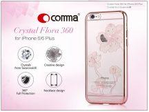 Apple iPhone 6/6S hátlap Swarovski kristály díszitéssel - Comma Crystal Flora 360 - rose gold