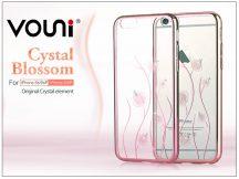 Apple iPhone 6/6S hátlap kristály díszitéssel - Vouni Crystal Blossom - rose gold