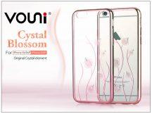 Apple iPhone 6 Plus/6S Plus hátlap kristály díszitéssel - Vouni Crystal Blossom - rose gold