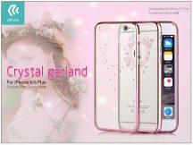 Apple iPhone 6/6S hátlap Swarovski kristály díszitéssel - Devia Crystal Garland - rose gold