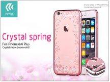 Apple iPhone 6/6S hátlap Swarovski kristály díszitéssel - Devia Crystal Spring - rose gold