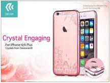 Apple iPhone 6/6S hátlap Swarovski kristály díszitéssel - Devia Crystal Engaging - rose gold