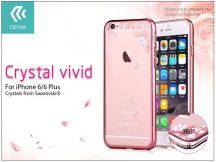 Apple iPhone 6/6S hátlap Swarovski kristály díszitéssel - Devia Crystal Vivid - rose gold