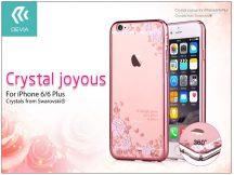 Apple iPhone 6/6S hátlap Swarovski kristály díszitéssel - Devia Crystal Joyous - rose gold