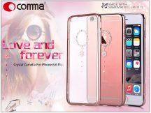 Apple iPhone 6/6S hátlap Swarovski kristály díszitéssel - Comma Crystal Camelia - white diamond