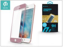 Apple iPhone 6/6S üveg képernyő- + Crystal hátlapvédő fólia - Devia Jade Full Screen Tempered Glass 0.18 mm - 1 + 1 db/csomag - rose gold