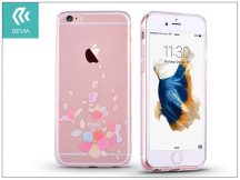 Apple iPhone 6 Plus/6S Plus hátlap kristály díszitéssel - Devia Crystal Soft Belis - clear/pink