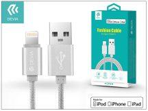 Apple iPhone 5/5S/5C/SE/iPad 4/iPad Mini USB töltő- és adatkábel - 1,2 m-es vezetékkel (Apple MFI engedélyes) - Devia Fashion Cable Lightning - silver