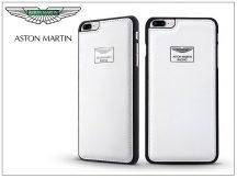 Apple iPhone 7 Plus/iPhone 8 Plus valódi bőr hátlap - Aston Martin Racing - white
