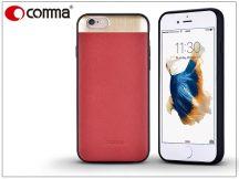 Apple iPhone 6/6S valódi bőr hátlap - Comma Vivid Leather - red