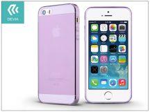 Apple iPhone 5/5S/SE szilikon hátlap - Devia Naked - purple
