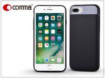 Apple iPhone 7 Plus valódi bőr hátlap - Comma Vivid Leather - black