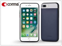 Apple iPhone 7 Plus/iPhone 8 Plus valódi bőr hátlap - Comma Vivid Leather - blue