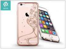 Apple iPhone 6/6S hátlap Swarovski kristály díszitéssel - Devia Crystal Secret Garden - champagne gold