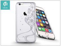 Apple iPhone 6/6S hátlap Swarovski kristály díszitéssel - Devia Crystal Secret Garden - silver