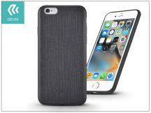 Apple iPhone 6/6S szilikon hátlap - Devia Jelly Slim Leather 2 - black