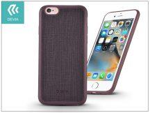 Apple iPhone 6/6S szilikon hátlap - Devia Jelly Slim Leather 2 - wine red