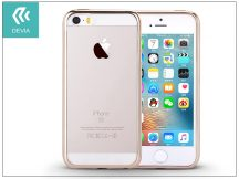 Apple iPhone 5/5S/SE szilikon hátlap - Devia Glitter Soft - champagne gold