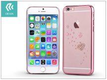 Apple iPhone 6/6S hátlap Swarovski kristály díszitéssel - Devia Crystal Starry - rose gold