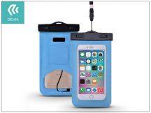 Univerzális vízálló védőtok max. 5,5&quot, méretű készülékekhez - Devia Neon Waterproof Bag - blue