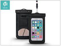 """Univerzális vízálló védőtok max. 5,5"""", méretű készülékekhez - Devia Neon Waterproof Bag - black"""