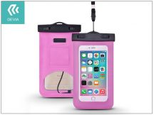 """Univerzális vízálló védőtok max. 5,5"""", méretű készülékekhez - Devia Neon Waterproof Bag - rose red"""