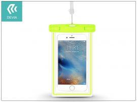 """Univerzális vízálló védőtok max. 5,5"""", méretű készülékekhez - Devia Ranger Fluorescence Waterproof Bag - green"""