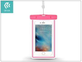 """Univerzális vízálló védőtok max. 5,5"""", méretű készülékekhez - Devia Ranger Fluorescence Waterproof Bag - pink"""