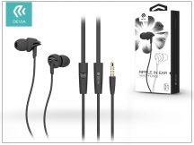 Devia univerzális sztereó felvevős fülhallgató - 3,5 mm jack - Devia Ripple D1 In-Ear Headphones - black