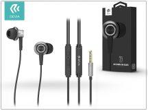 Devia univerzális sztereó felvevős fülhallgató - 3,5 mm jack - Devia Acorn T1 In-Ear Headphones - black