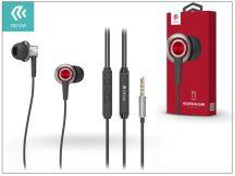 Devia univerzális sztereó felvevős fülhallgató - 3,5 mm jack - Devia Acorn T1 In-Ear Headphones - red
